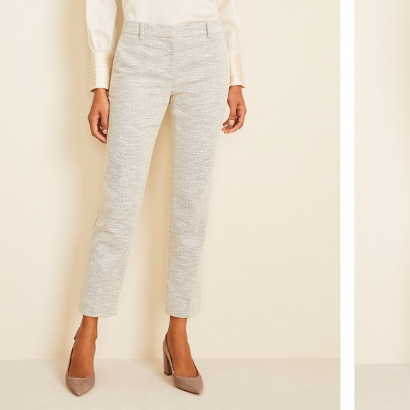 NWT Ann Taylor The Ankle Pant in Texture